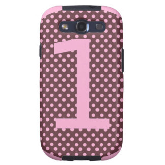 Pink and Brown First Birthday ONE Galaxy SIII Case