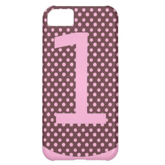 Pink and Brown First Birthday ONE iPhone 5C Case
