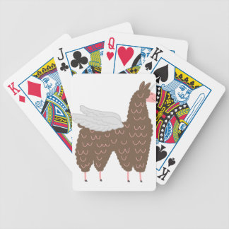 Pink and Brown Flying Llamacorn Bicycle Playing Cards