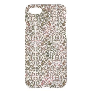 Pink and Brown Heathered Batik Shibori Damask iPhone 8/7 Case