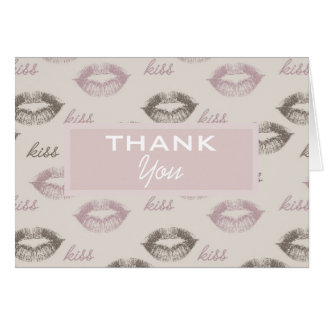 Pink and Brown Lips Card