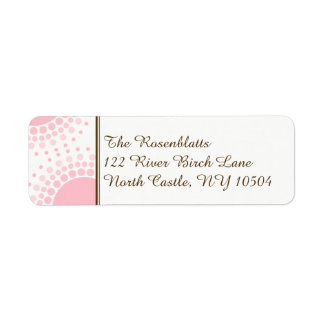 Pink and Brown Modern Circles Address Return Address Label