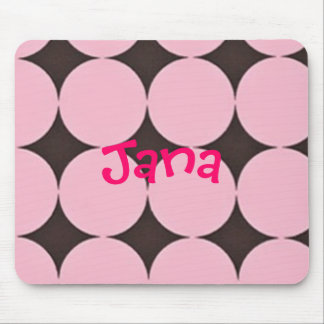 Pink and Brown mouse pad customized