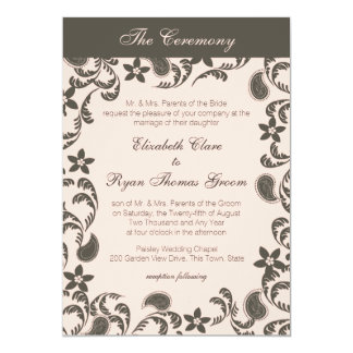 Pink and Brown Paisley Card
