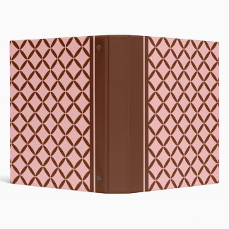 Pink and Brown Pattern Binder