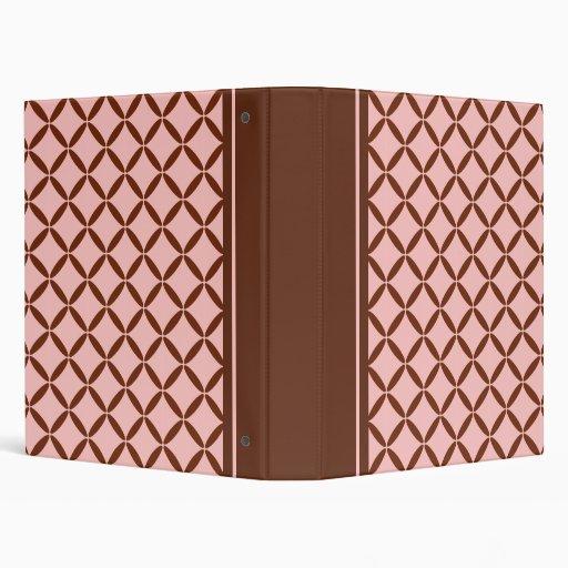 Pink and Brown Pattern Binder