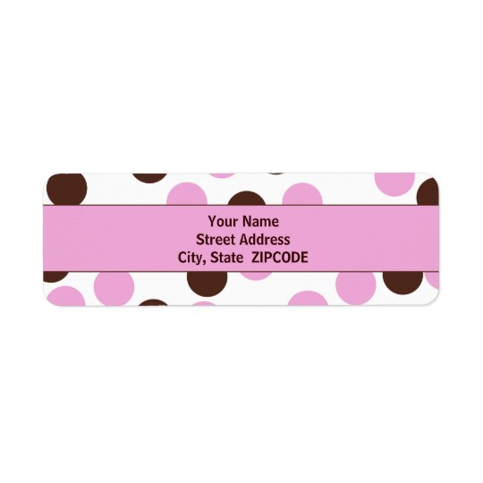 Pink and Brown Polka Dot ADDRESS Labels