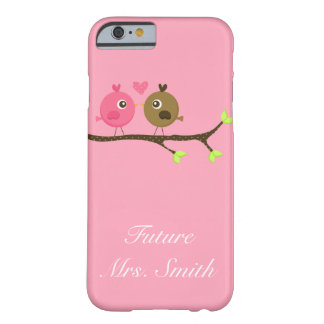 Pink and Brown Polka Dot Love Birds Future Mrs. Barely There iPhone 6 Case