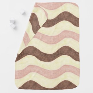 Pink and Brown Stripes Baby Blanket