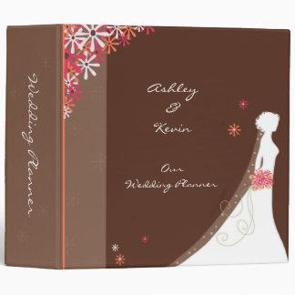 Pink and Brown Wedding Planner binder