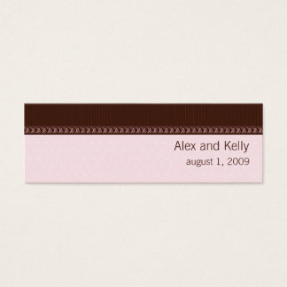 Pink and Brown Wedding Website Business Card