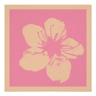Pink and Cream Apple Blossom Poster