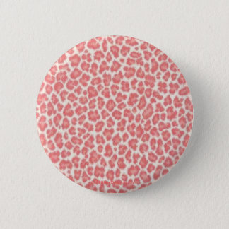 Pink and Cream Leopard Print Gifts 2 Inch Round Button