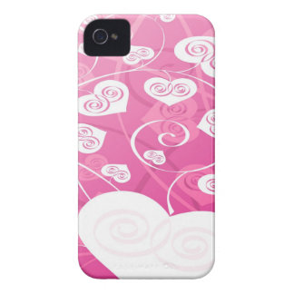 Pink and Cute Hearts Blackberry Case