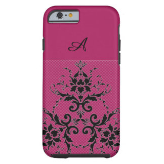 Pink and damask phone case