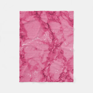 Pink and Dark Pink Marble Fleece Blanket
