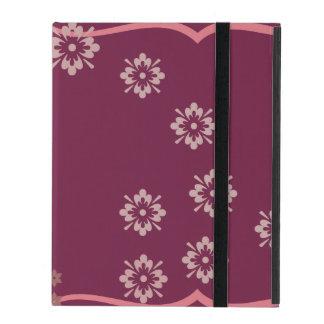 Pink and Flowered iPad Folio Case
