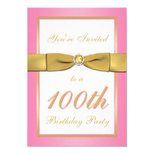 100th birthday invitations announcements zazzle ca