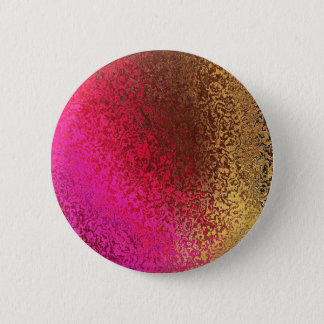 Pink And Gold Abstract 2 Inch Round Button