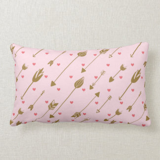 Pink and Gold Arrow Pillow