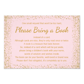 Pink and Gold Bring a Book Cards