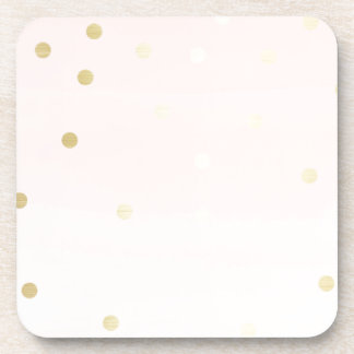 Pink and Gold Coaster