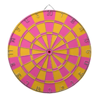 Pink And Gold Dartboard