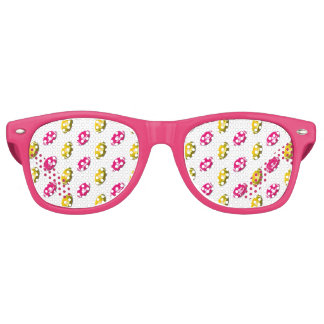 Pink and Gold Football Pattern Party Shades