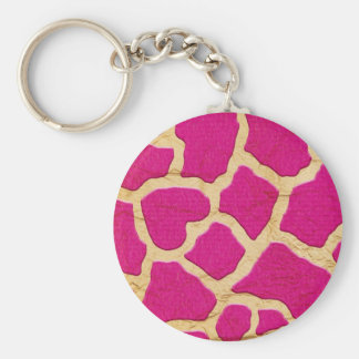 Pink and Gold Giraffe Keychains
