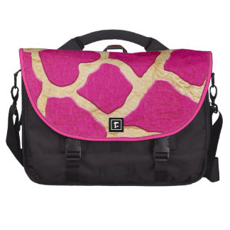 Pink and Gold Giraffe Bag For Laptop