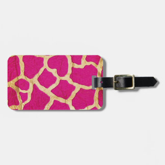 Pink and Gold Giraffe Travel Bag Tags