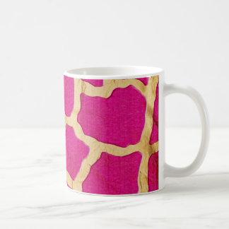 Pink and Gold Giraffe Coffee Mugs