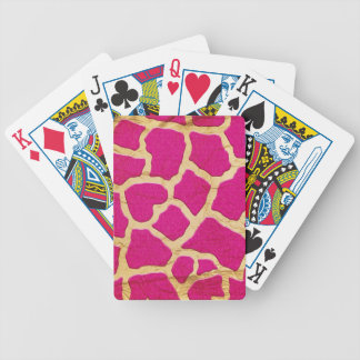 Pink and Gold Giraffe Playing Cards