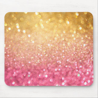 pink and gold glitter look mouse pad