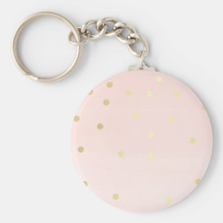 Pink and Gold Key Chains