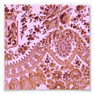 Pink And Gold Lace Art Photo