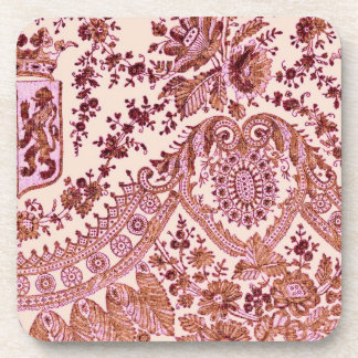 Pink And Gold Lace Coaster