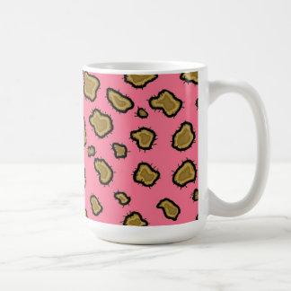 Pink and Gold Leopard Pattern Coffee Mug