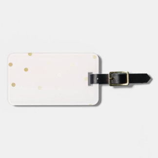 Pink and Gold Bag Tag