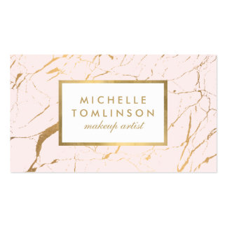 Pink and Gold Marble Designer Business Card