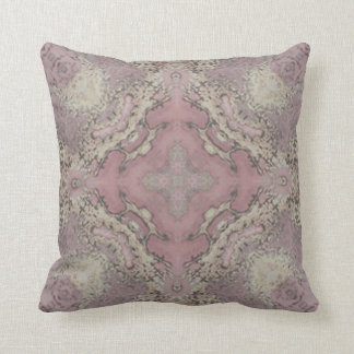 Pink and gold marble pillow