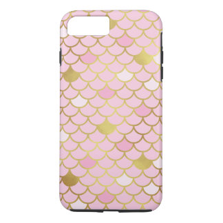 Pink and Gold Mermaid Scales Phone Case