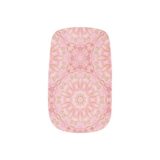 Pink and Gold Minx Nails Minx Nail Art