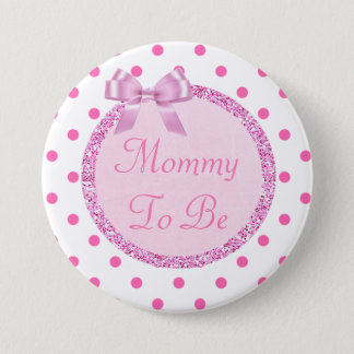 Pink and Gold Mommy to Be Baby Shower Pin