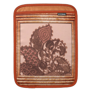 Pink And Gold Paisley iPad Sleeve
