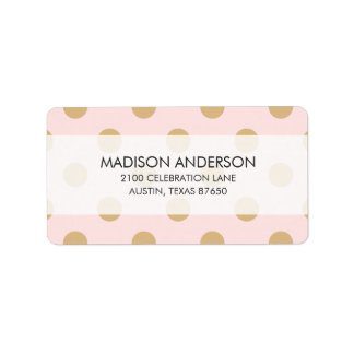 Pink and Gold Polka Dot Pattern