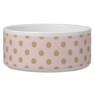 Pink and Gold Polka Dot Pattern