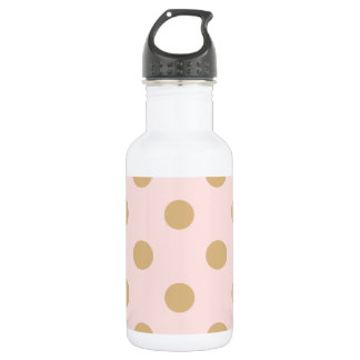 Pink and Gold Polka Dot Pattern 532 Ml Water Bottle