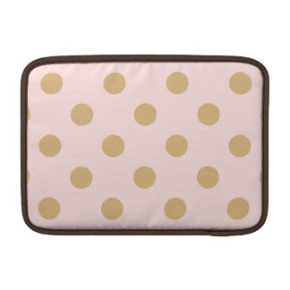 Pink and Gold Polka Dot Pattern Sleeves For MacBook Air