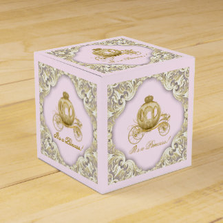 Pink and Gold Princess Favor Box